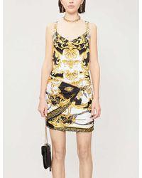 Versace Baroque-print Woven Mini Skirt - Metallic