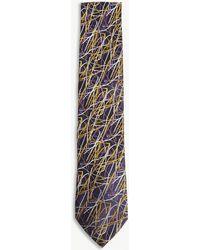 Duchamp - Sketch Lines Silk Tie - Lyst