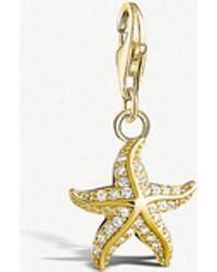 Thomas Sabo - Charm Club Yellow Gold-plated Starfish Charm - Lyst