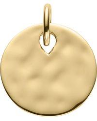 Monica Vinader Women's Ziggy 18ct Yellow-gold Vermeil Round Pendant - Metallic