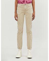 PAIGE Mayslie Stretch-cotton Pants - Natural