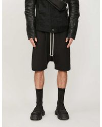 Rick Owens Straight Stretch-cotton Shorts - Black