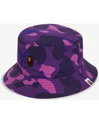 ca4a2892969278 A Bathing Ape - Camouflage Cotton Bucket Hat - Lyst