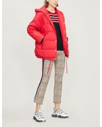 Maje - Gaos Hooded Quilted Shell-down Coat - Lyst