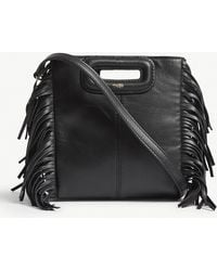 Maje   M Mini Lea Leather Cross-body Bag   Lyst