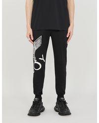 BOY London Graphic-print Cotton-jersey jogging Bottoms - Black