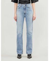 Agolde Vintage High-rise Organic Cotton Jeans - Blue