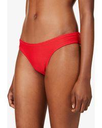 Heidi Klein Sardinia Mid-rise Bikini Bottoms - Red