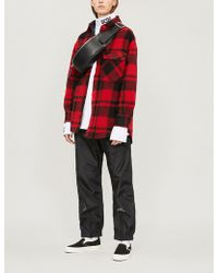 Izzue - Checked Brushed-cotton Shirt - Lyst