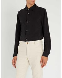 Tom Ford Regular-fit Silk And Cotton-blend Shirt - Blue