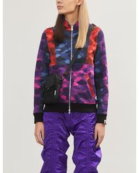 A Bathing Ape Camouflage-print Relaxed-fit Cotton-jersey Hoody - Purple