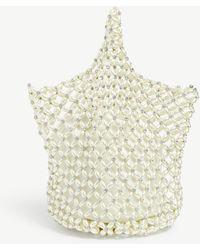 Simone Rocha Faux Pearl Beaded Net Bag - Multicolour