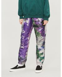 Stussy - Quilted Reversible Printed Shell Trousers - Lyst