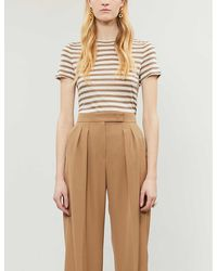 Theory Tiny Tee Striped Stretch-jersey T-shirt - Multicolor