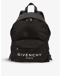 Givenchy Paris Brand-print Shell Backpack - Black