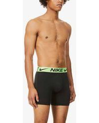Nike Luxe Cotton-blend Trunks - Black