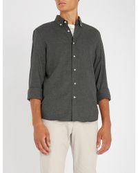 Brunello Cucinelli - Leisure-fit Brushed-cotton Shirt - Lyst