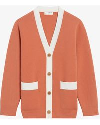 Sandro Deborah Oversized Knitted Cardigan - Multicolour