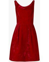 Beyond Retro Pre-loved 1950s Velvet Mini Dress - Red