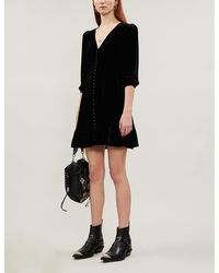 The Kooples Sport - V-neck Velvet Dress - Lyst