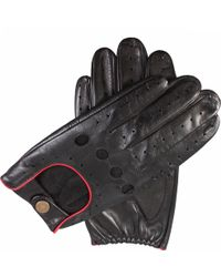 Dents Leather Touchscreen Driving Gloves - Black
