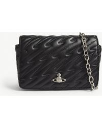 Vivienne Westwood Black Coventry Quilted Leather Cross-body Bag