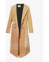 Greg Lauren Scrapwork Patchwork Wool And Cotton-blend Coat - Natural
