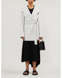 JOSEPH Lima Wool And Cashmere-blend Belted Coat - White