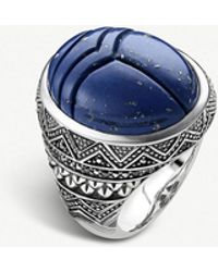 Thomas Sabo - Rebel At Heart Scarab Beetle Silver Signet Ring - Lyst