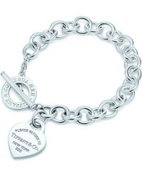 Tiffany & Co. - Return To Tiffanytm Heart Tag Toggle Bracelet In Sterling Silver - Lyst