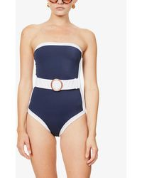 Alexandra Miro Whitney Strapless Swimsuit - Blue