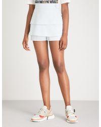 Maje - Salia High-rise Tiered Crepe Shorts - Lyst