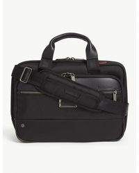 Briggs & Riley Small Expandable Ballistic Nylon Briefcase - Black
