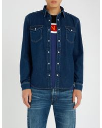 Givenchy - Side-stripe Regular-fit Denim Shirt - Lyst