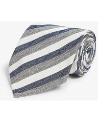 Eton of Sweden Stripe Tie - Blue