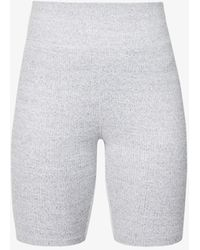 Rag & Bone Ribbed Stretch-knit Biker Shorts - Multicolour