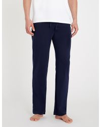 Polo Ralph Lauren Cotton-jersey Pyjama Bottoms - Blue