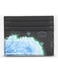 MCM Floral Faux-leather Cardholder - Black