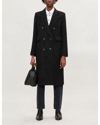 Sandro John Fitted Woven Coat - Black