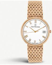 Carl F. Bucherer 00.10301.03.21.22 Adamavi 18ct Rose-gold Watch - Metallic