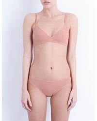 Bodas Smooth Tactel Bralet - Pink