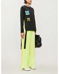 MM6 by Maison Martin Margiela Logo-appliqué Cotton-jersey Sweatshirt - Black