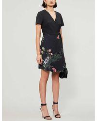 Ted Baker Highland Crepe Mini Dress - Black
