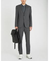 Emporio Armani - Micro-check Academy-fit Wool Suit - Lyst