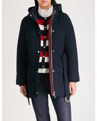 Claudie Pierlot - Ganash Double-layered Striped-trim Cotton Coat - Lyst