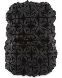 Comme des Garçons Floral Leather Backpack - Black
