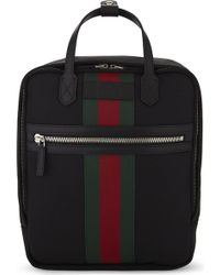 Gucci - Web Stripe Techno Canvas Backpack - Lyst
