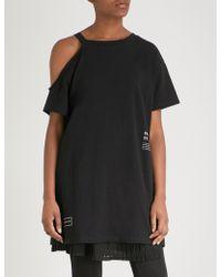 5cm - Text-print Cotton-jersey Top - Lyst