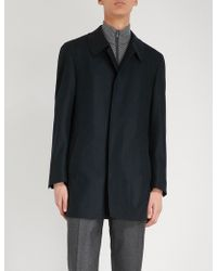 Canali - Collared Wool Coat - Lyst