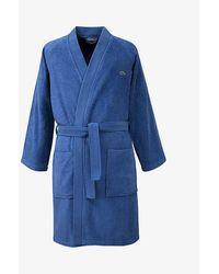Lacoste Defile Organic Cotton Bathrobe - Blue